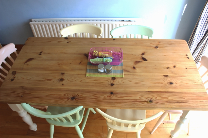 OrganisingChaosBlog - Kitchen table and chairs updated