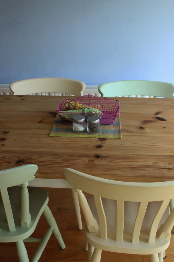 OrganisingChaosBlog - Painted kitchen table and chairs