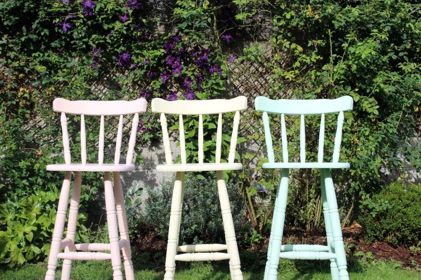 Colourful bar stools