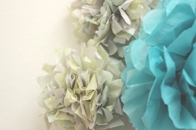 colourful tissue paper flowers