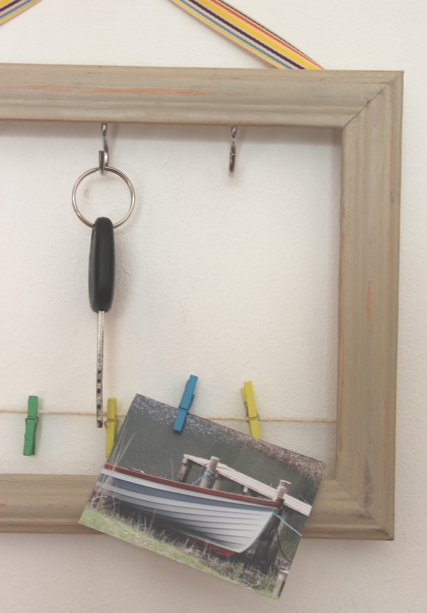 DIY frame key holder 1