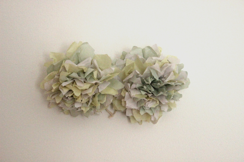 Green tissue paper flowers
