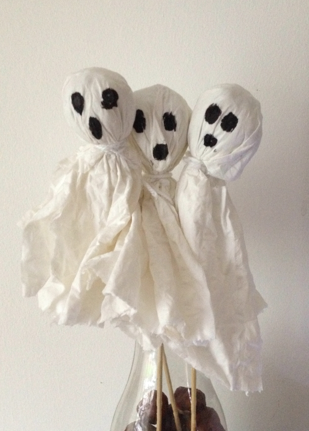 Halloween home-made ghosts