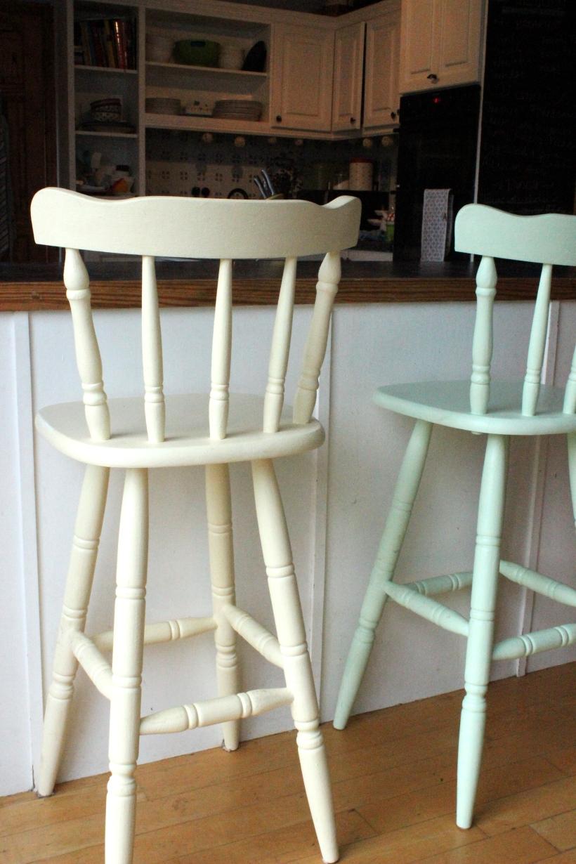 Painted kitchen stools