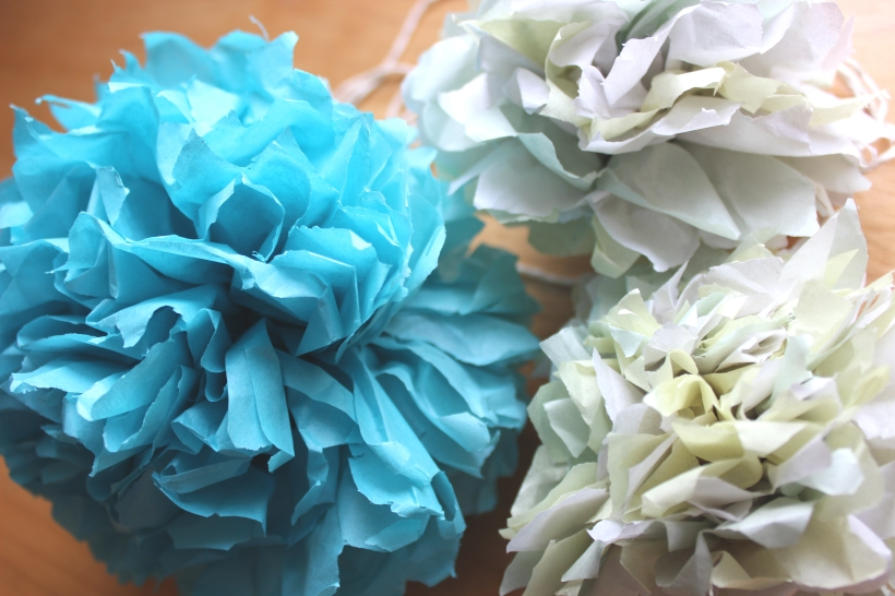 Pretty tissue paper flowers