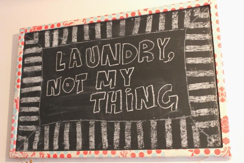 Laundry blackboard