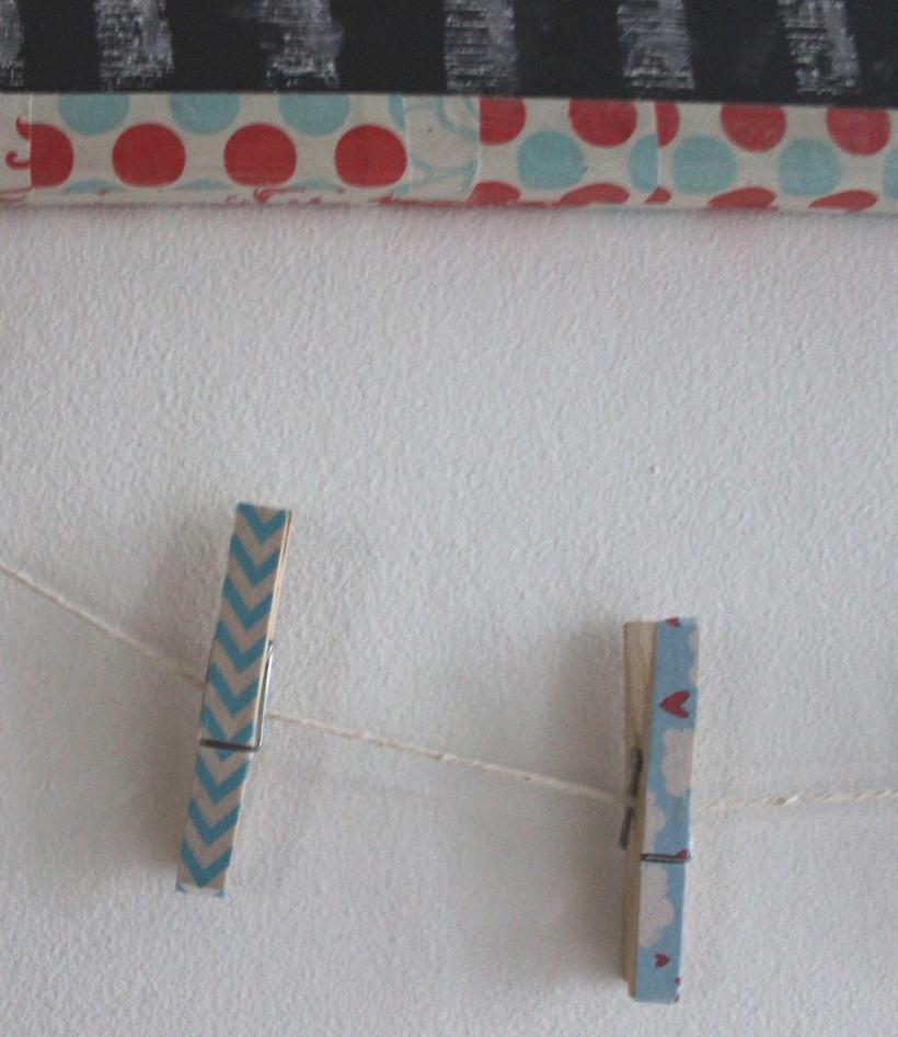 Organising - wooden pegs