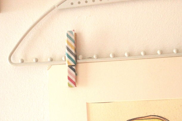Pegs covered with washi tape