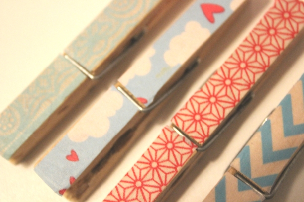 Really pretty (and easy to make) wooden pegs