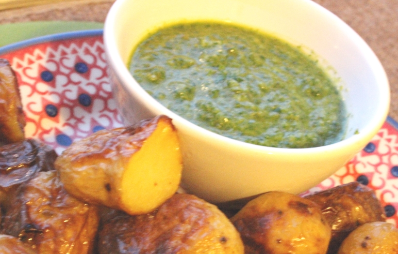 Salsa Verde with Roasted baby Potatoes