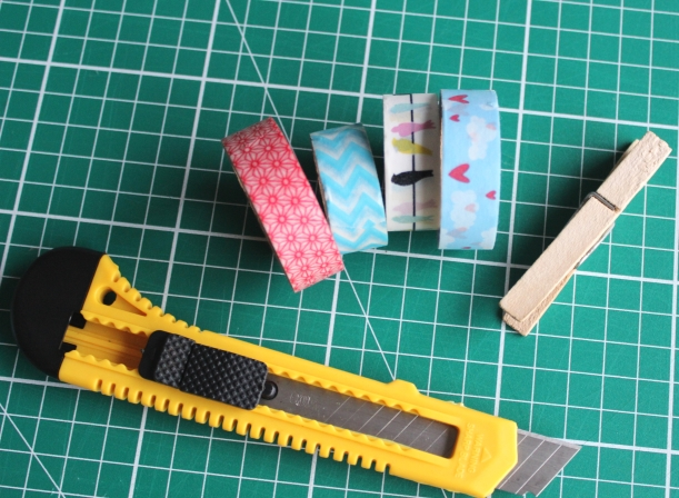 Washi Tape Wooden pegs - easy projects