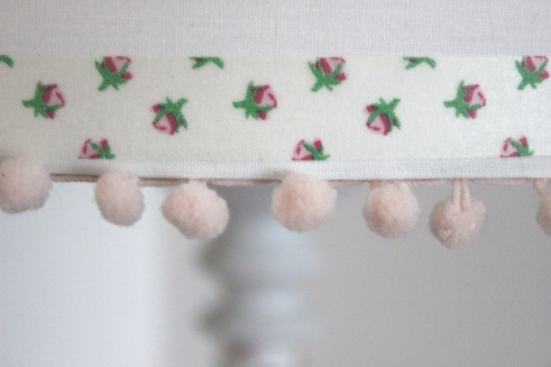 Pompom and pink in lamp shades