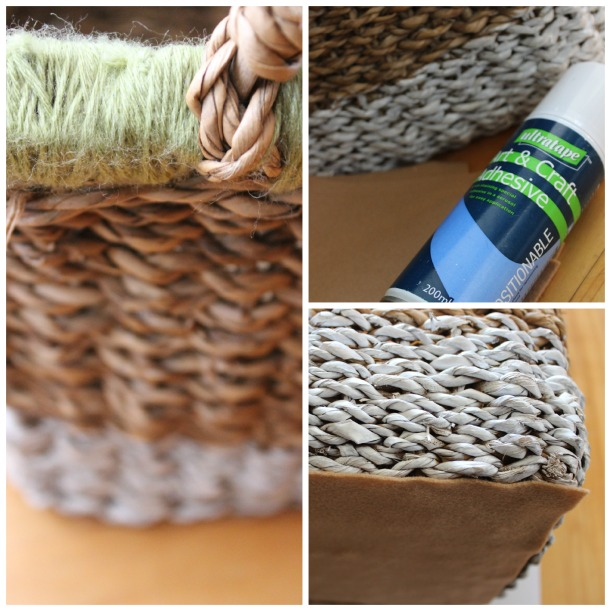 Updating a tired basket with wool - OrganisingChaosBlog