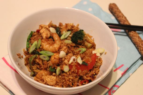 Fried Rice for #NoFoodWaste Challenge - OrganisingChaosBlog