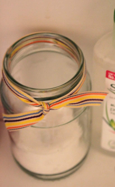 Jam jars to store cotton pads - OrganisingChaosBlog