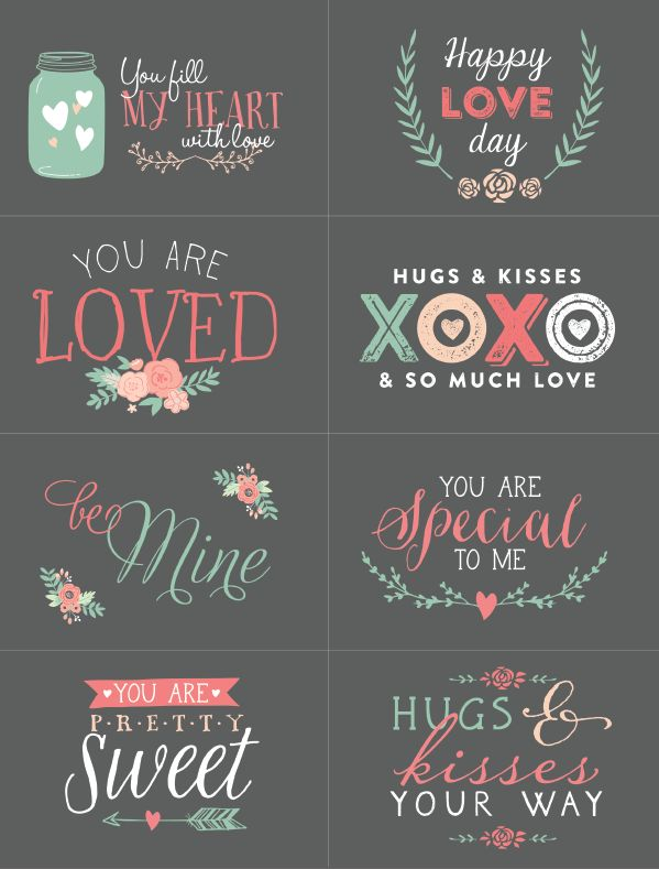 Valentine's printables