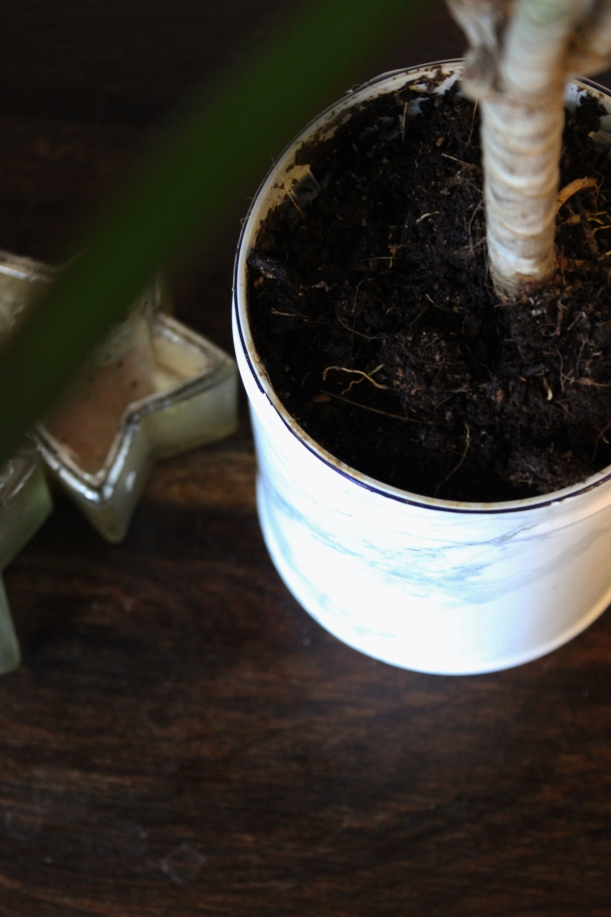 OrganisingChaosBlog - Make a marble flower pot