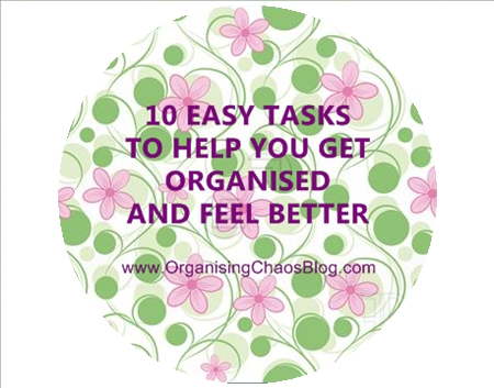 OCB - 10 Easy Tasks to get organised and make you feel better