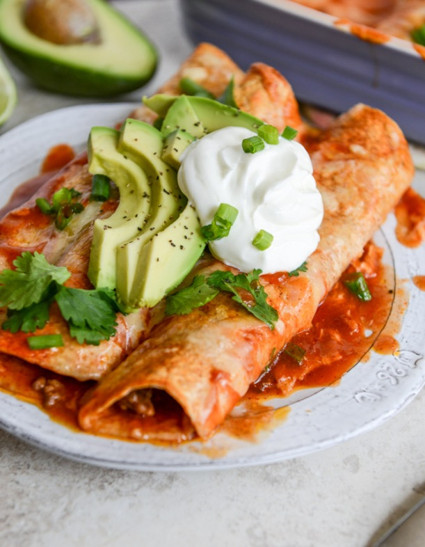 OrganisingChaosBlog - Recipes to try this Spring - Beef Enchiladas