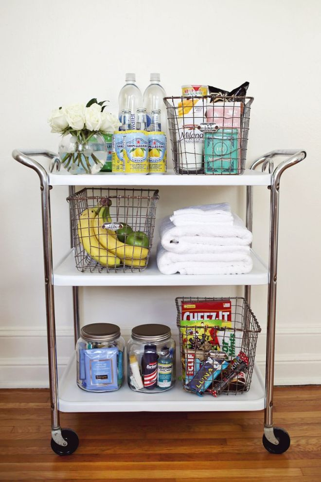 Weekly Inspiration - Guest Room cart