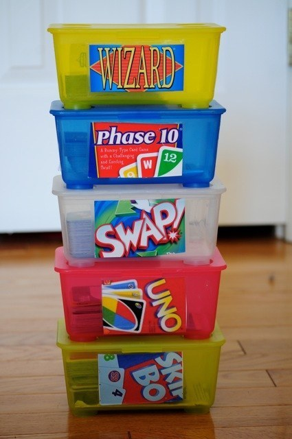 Kids organisation - boxes for games