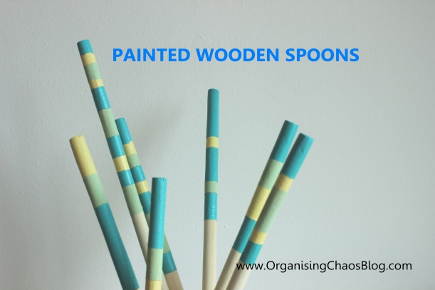 Painted Wooden Spoon - OrganisingChaos