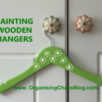 PAINTED  WOODEN HANGERS