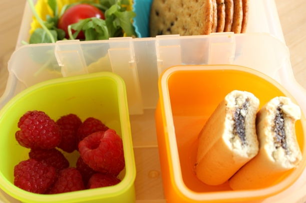 School lunch - Make your own sandwich - fruit and treat