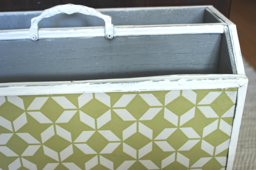 Up-cycling an old magazine holder 1
