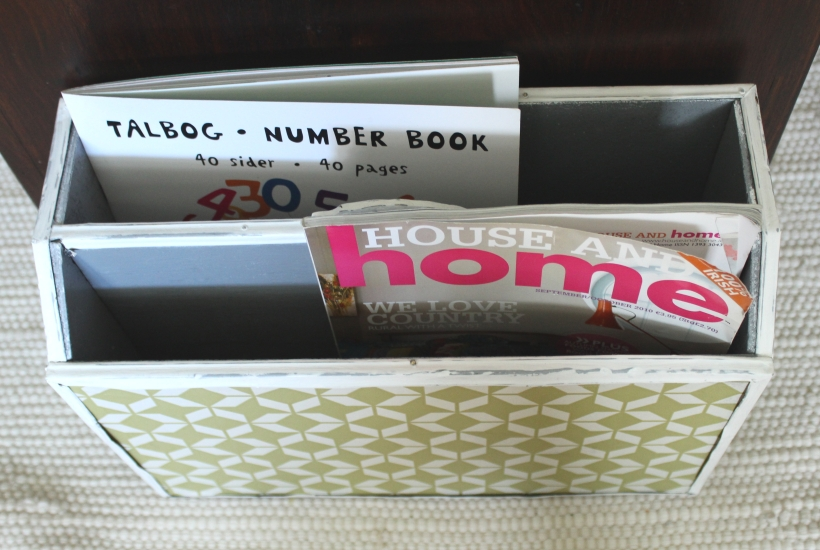 Up-cycling an old magazine holder 2
