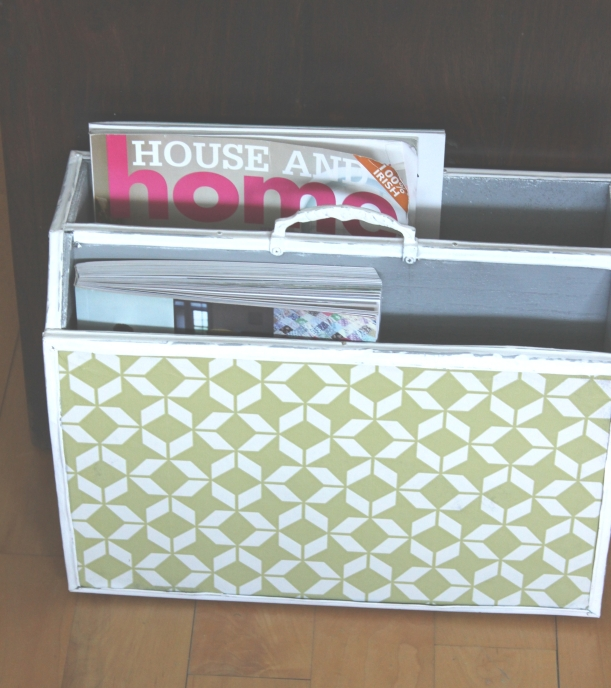 Up-cycling an old magazine holder