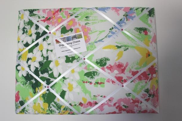 Vintage Notice Board - 70's floral
