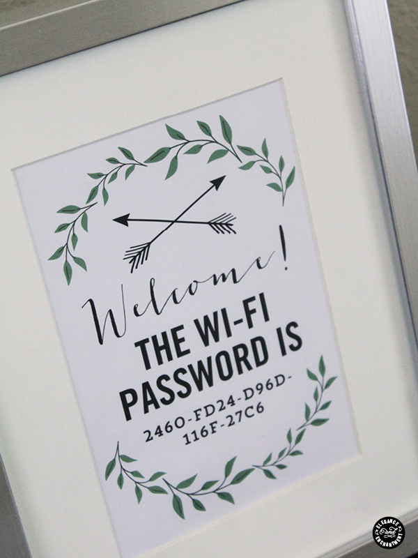 Sharing Wi-Fi Password with your guests