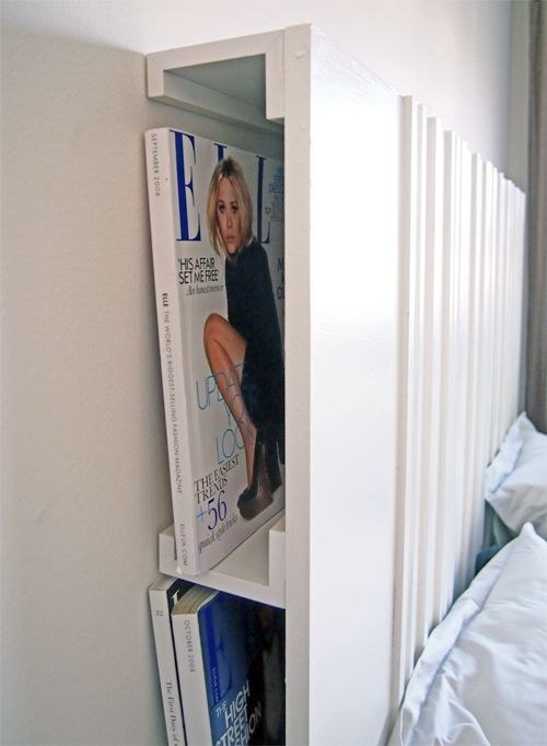 Headboard with photo ledges
