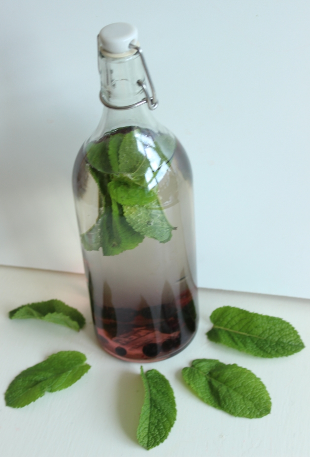 Organising Chaos - mint and blueberry infused water