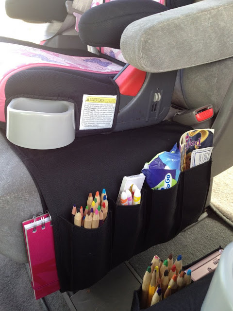 TV control organizer for the car