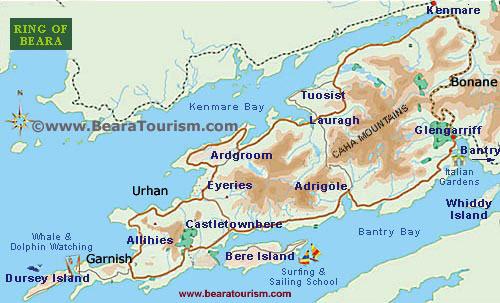Map of Beara Peninsula