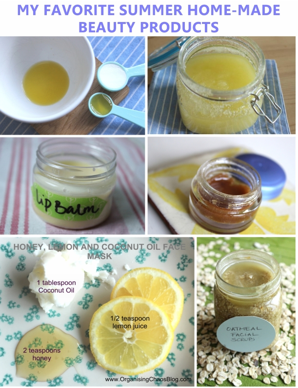 MY FAVORITE SUMMER HOME-MADE BEAUTY PRODUCTS