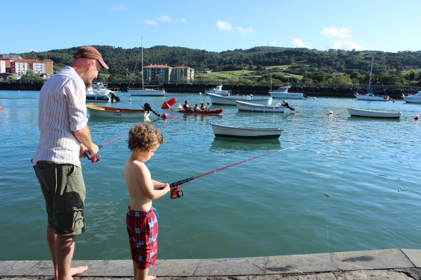 Lazy days - fishing with dad