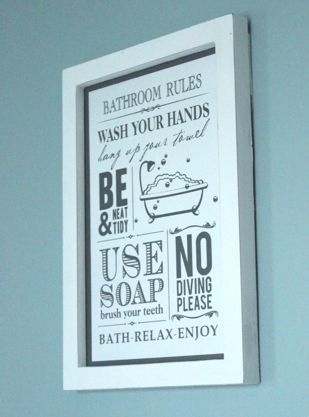 Bathroom rules - painting with chalk paint